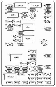 Oldsmobile Bravada  2002  - Fuse Box Diagram