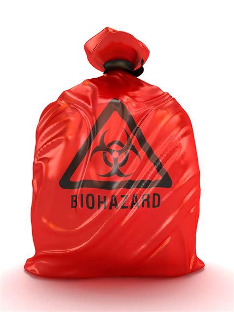 medical waste packaging      tie  red bag