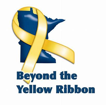 Ribbon Yellow Beyond Mn Military Minnesota Lt