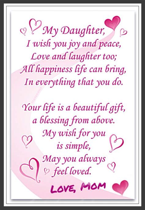 love daughter love  daughter  mom  birthday quotes daughter quotes
