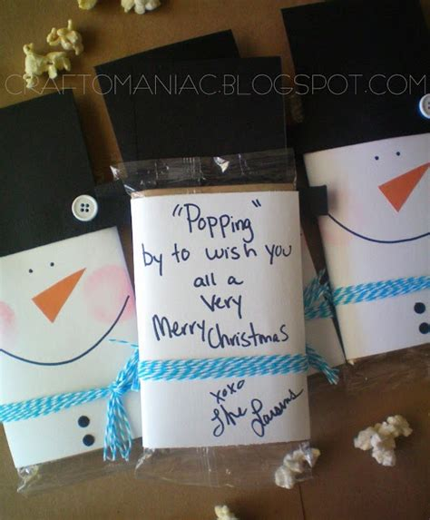 snowman popcorn gift holiday ideas pinterest