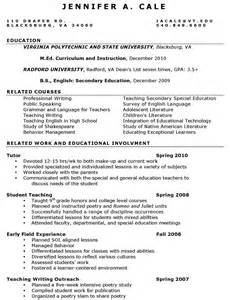 sle resume template word 2003 resume exle teaching assistant