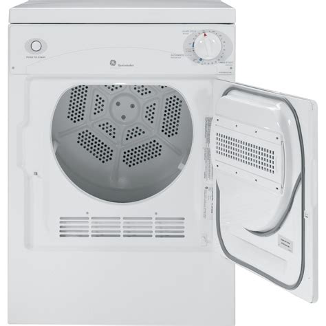 dskpecww ge spacemaker  cu ft portable electric dryer white  white airport home