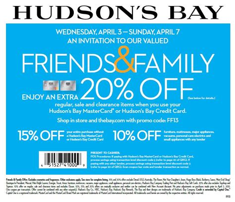 hudson s bay canada friends family discount coupon