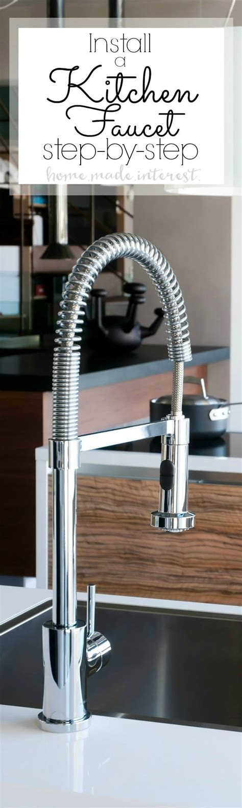 how do you replace a kitchen sink how to install a kitchen faucet home made interest 9259