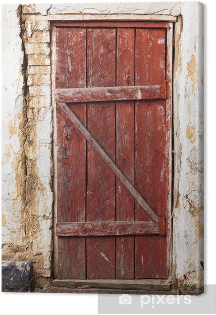 wooden plank vintage door canvas print pixers