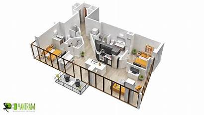 Floor Open Apartment Plan Plans Layout Bedroom