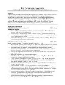 construction quality manager resume qa manager resume berathen