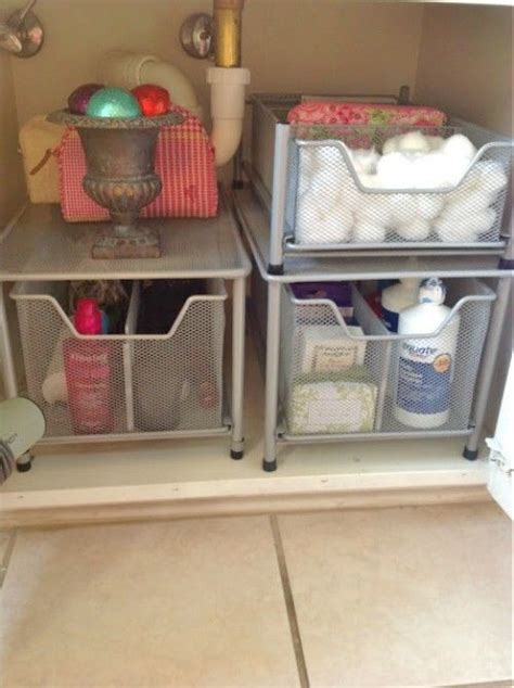 15 ways to organize under the bathroom sink organizing