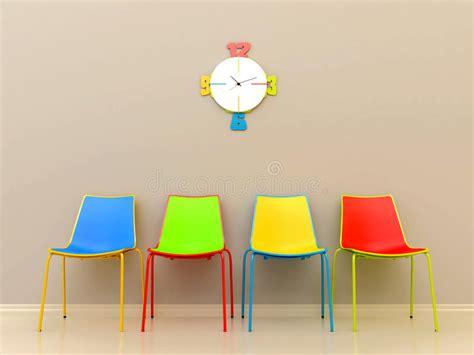 gekleurde plastic stoelen gekleurde stoelen stock illustratie illustratie bestaande