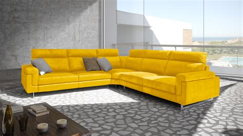 canapé cuir jaune le mobiliermoss du nouveau côté canapé d angle