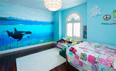 turn  bedroom   underwater themed space