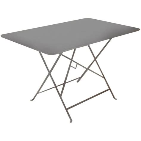 table de jardin pliante en metal grise 110x70cm achat vente table de jardin table de jardin
