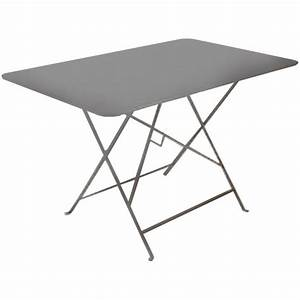 Table De Jardin En Metal : table de jardin pliante en metal grise 110x70cm achat vente table de jardin table de jardin ~ Teatrodelosmanantiales.com Idées de Décoration