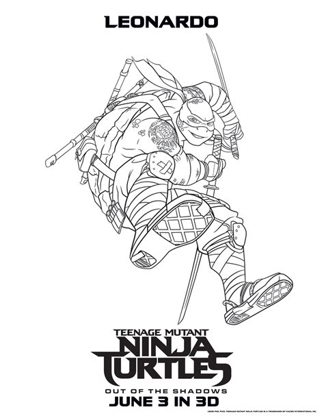 New Tmnt Coloring Pages Getcoloringpagescom