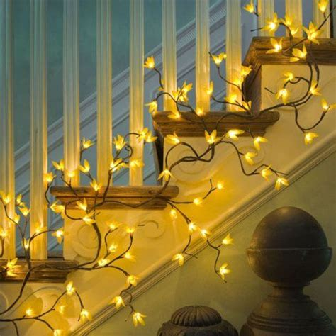 lighted garland for staircase 107 best images about a touch of magic light on pinterest