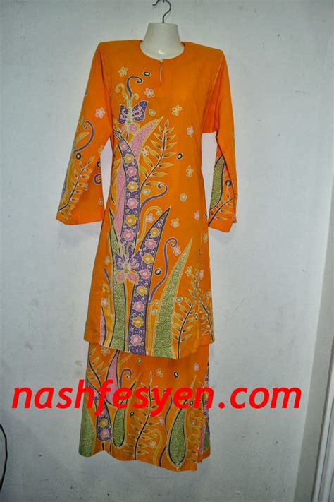 nash fesyen baju kurung batik cotton