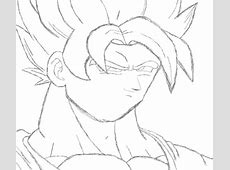 Dragon Ball Z images How to draw Goku SSJ in MS Paint Step