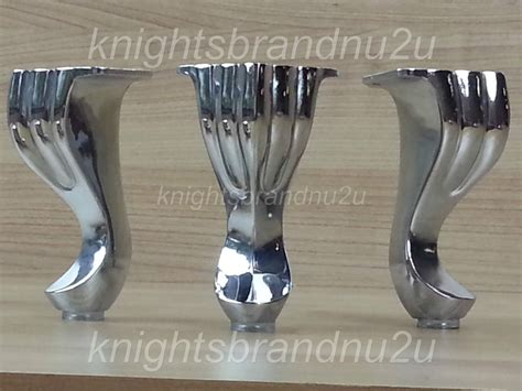 Replacement Legs For Sofas by 4x Pre Fix Chrome Replacement Furniture Feet Legs Sofa