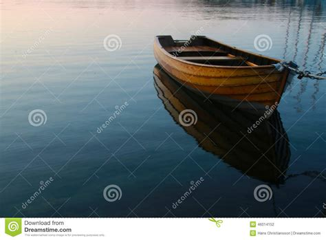 Row Boat On Water by Row Boat In Calm Water Stock Photo Image 46014152
