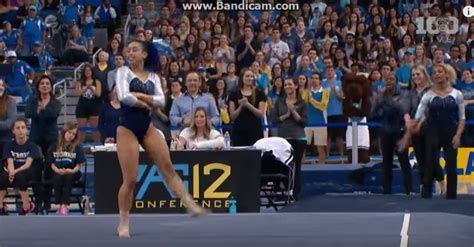 hip hop gymnastics floor routine when it was this gymnast s turn for the floor exercise i