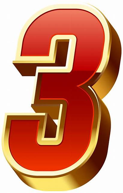 Transparent Number Three Clipart Numbers Decorative Yopriceville
