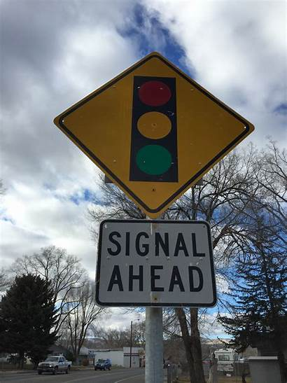 Signal Ahead Sign Traffic Street Route State