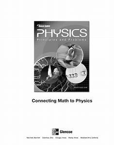 Bestseller  Physics Principles And Problems Study Guide Answers Chapter 1