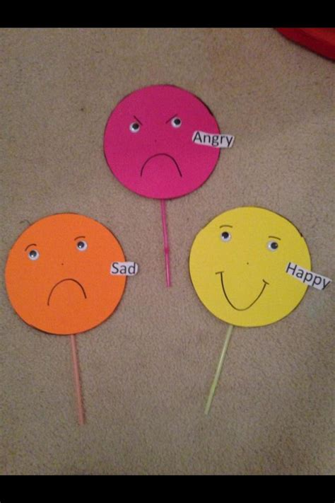 feeling and emotions puppets craft activity 764 | 7d09cf483823951ca7344d5bba67f5cb