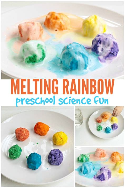 science projects for preschoolers melting rainbow preschool science experiment 327
