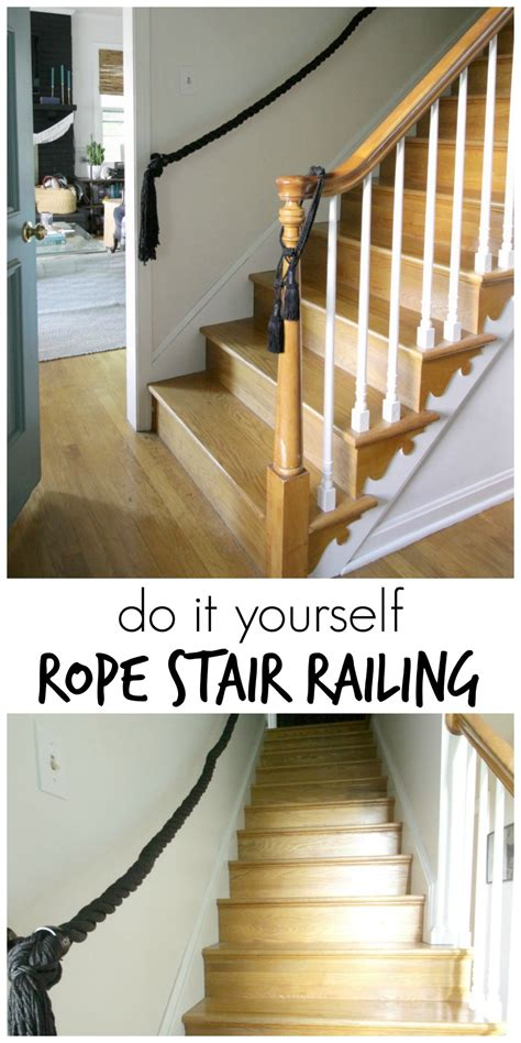 diy rope stair railing cassie bustamante