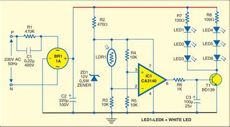 Simple Strip Led Lamp Circuit Diagram