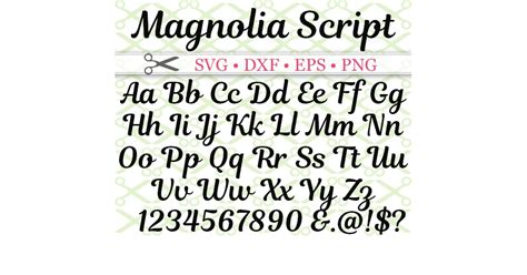 magnolia script svg font cricut silhouette files svg dxf eps png monogramsvgcom  svg designs