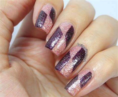 Nail Art With Glitter : Barry M Royal Glitter Nail Art