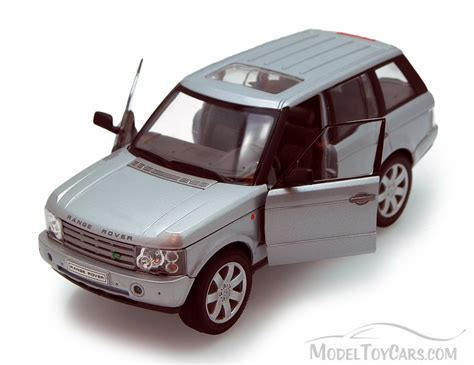 toy range rover 2003 land rover range rover suv silver welly 22415 1
