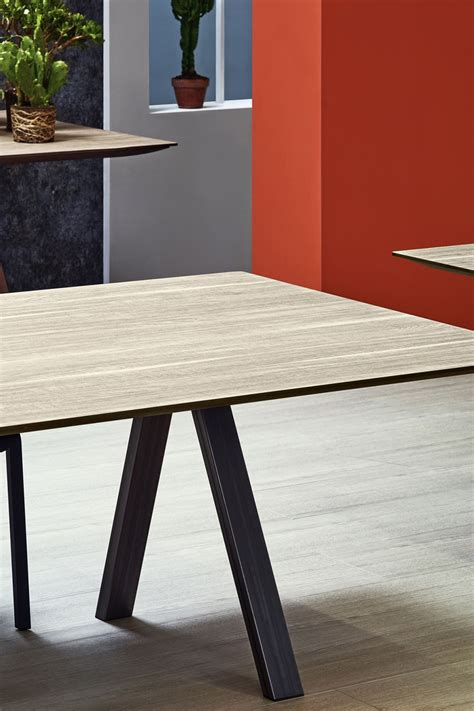 Table In by Arki Table Pedrali Design Table Fixed In Metal With