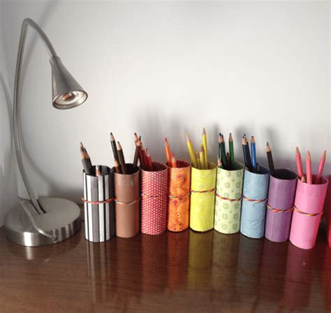 diy pencil holder for desk diy pencil crayon holder from recycled toilet paper rolls
