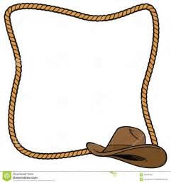 Cowboy Rope Border Vector