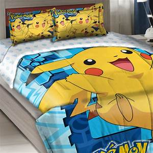 Pokemon Twin Full forter Set Big Pikachu Bedding modern kids bedding