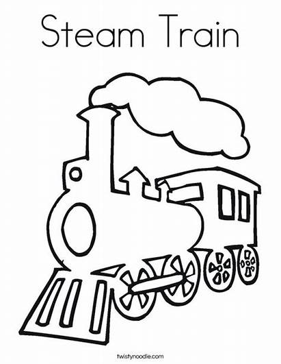 Train Steam Coloring Outline Drawing Pages Razorwhip