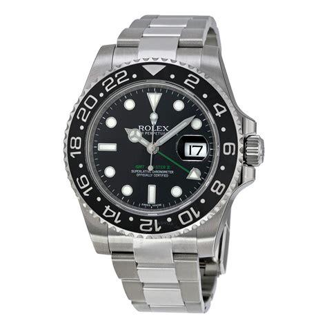 Rolex GMT Master II Black Index Dial Oyster Bracelet Steel ...