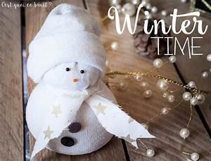Chaussette A Neige : diy le bonhomme de neige en chaussette ~ Teatrodelosmanantiales.com Idées de Décoration