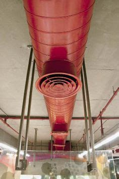 dark painted exposed duct work   Exposed pipes/ductwork