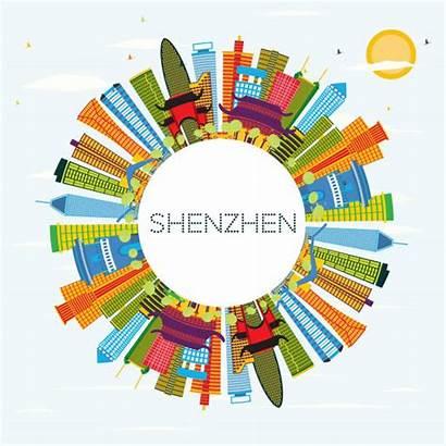 Shenzhen Skyline Illustrations Clip