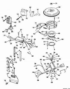 Johnson Ignition System Parts For 1995 70hp J70tleor