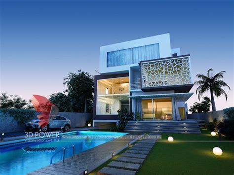 Luxurious 3D Modern Bungalow rendering & elevation design