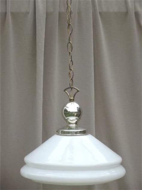 vintage industrial pendant lights w milk glass l