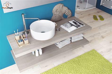mensole per lavabo da appoggio piano bagno sospeso da 130 cm per lavabo d appoggio arredo