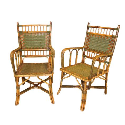 vintage italian wicker dining chairs foxglove antiques
