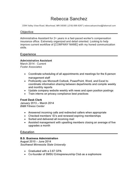 administrative assistant resume sle source resume